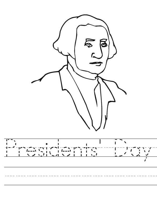 Learn to Write Presidents Day Coloring Page - Download & Print ...