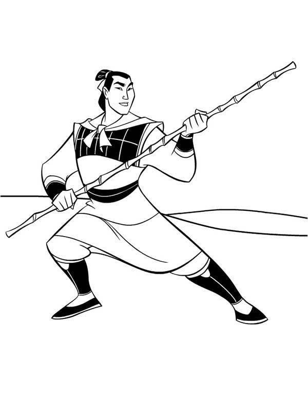 Mulan And Shang Coloring Pages image information