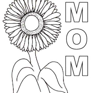 Lovely Sunflower Coloring Page