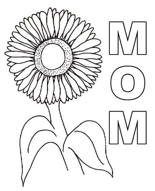 Lovely Sunflower Coloring Page Lovely Sunflower Coloring Page