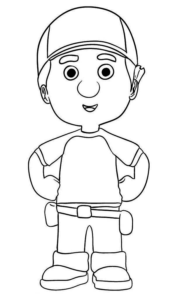 handy manny manny garcia handy manny coloring page - Handy Manny Colouring Pages