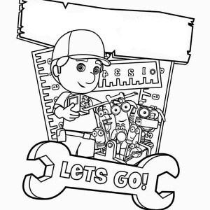manny garcia and friends poster handy manny coloring page - Handy Manny Hammer Coloring Pages