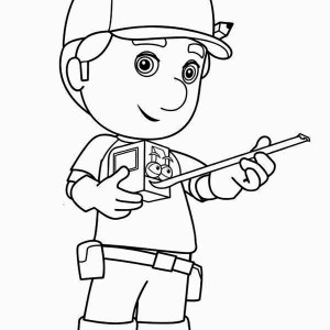Manny And Stretch Handy Coloring Page