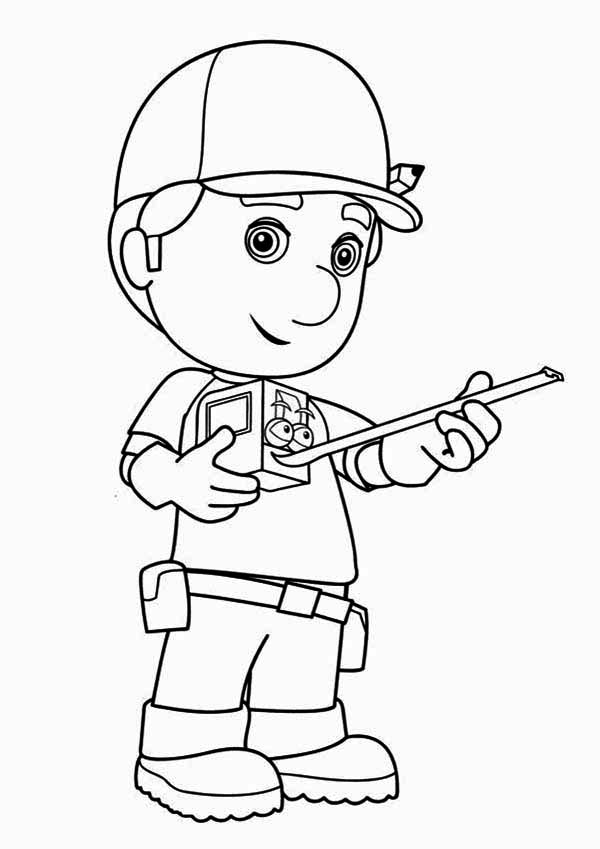 Handy Manny And Stretch Coloring Page