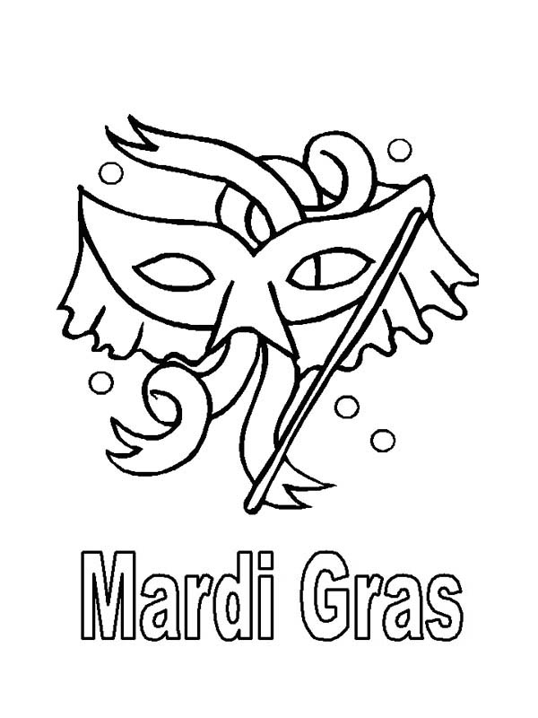 Mardi Gras, : Mardi Gras Celebration After the Epiphany Coloring Page