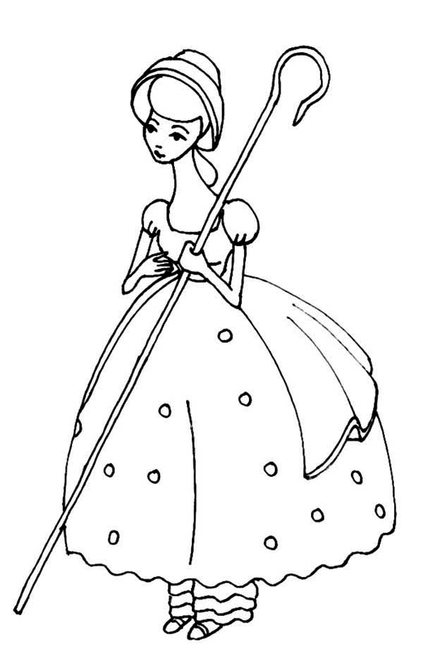 Toy story meet bo peep in toy story coloring page for Little bo peep coloring pages