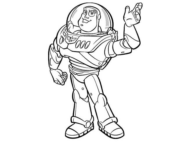 meet buzz lightyear in toy story coloring page