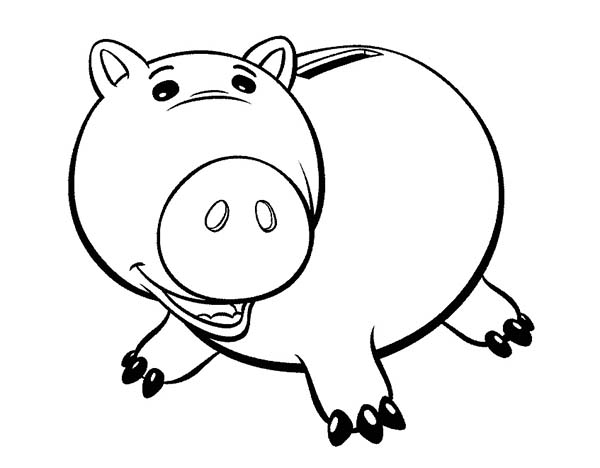 Meet hamm the pig in toy story coloring page download