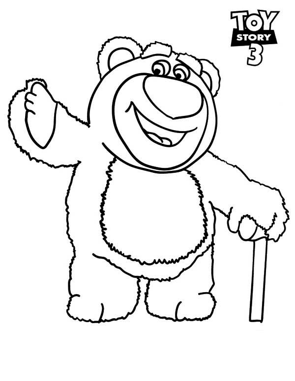 Meet lots o huggin bear in toy story 3 coloring page meet for Free printable coloring pages toy story 3