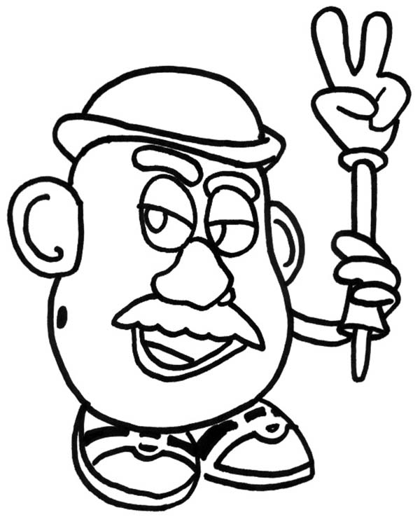 Meet Mr Potato Head in Toy Story Coloring Page Download Print