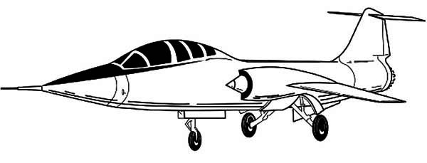 Airplane Military Coloring Pages