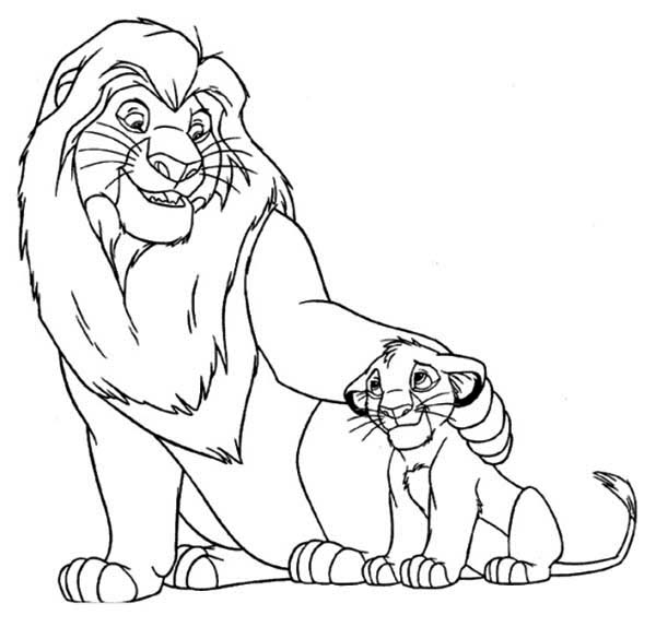 Mufasa Love Simba Coloring Page - Download & Print Online Coloring ...