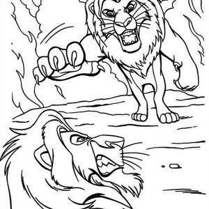 Lion king simba vs scar car repair manuals and wiring for Scar coloring page