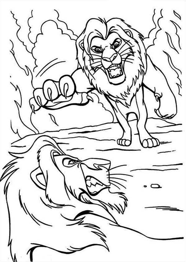 Mufasa and Scar are Fighting The