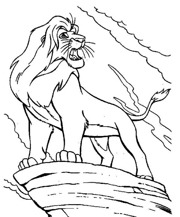 mufasa is angry the lion king coloring page - Coloring Page Lion