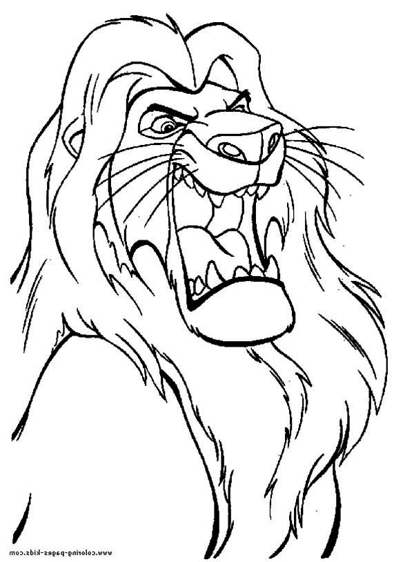 Mufasa the Great The Lion King Coloring Page Download Print