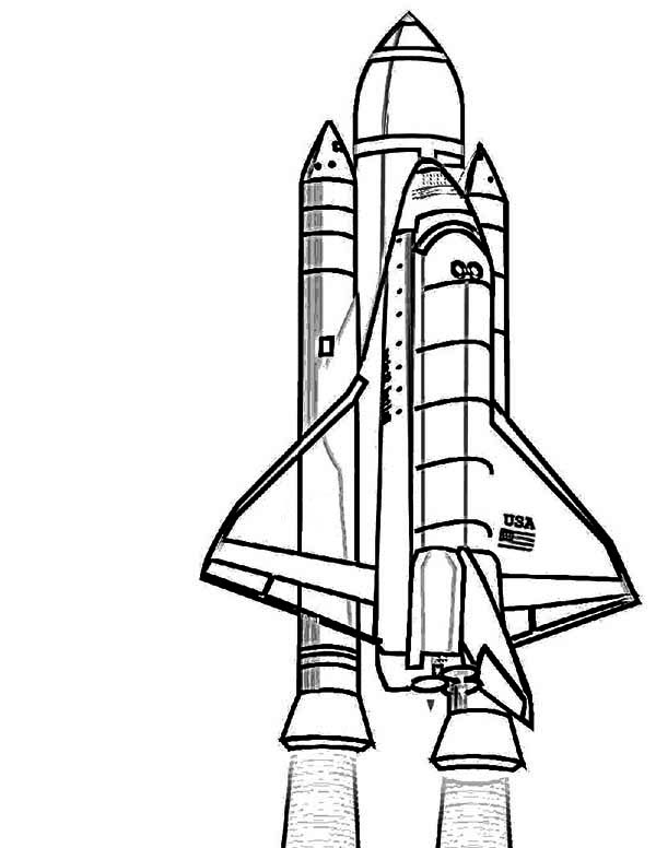 nasa discovery space shuttle coloring page  nasa