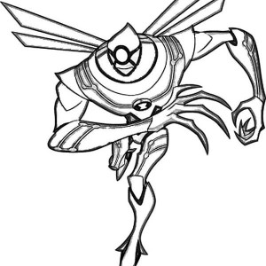 Nanomech from Ben 10 Ultimate Alien Coloring Page