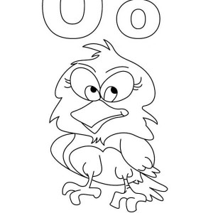 O for owl coloring book for kids