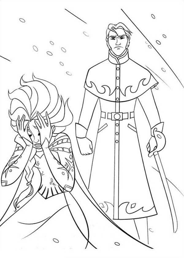 Powerless Elsa With The Duke Of Weseltons Thugs Coloring