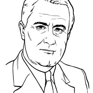 President LBJ on Presidents Day Coloring Page
