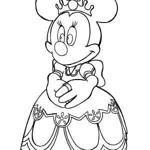 Princess Minnie Mouse Coloring Page