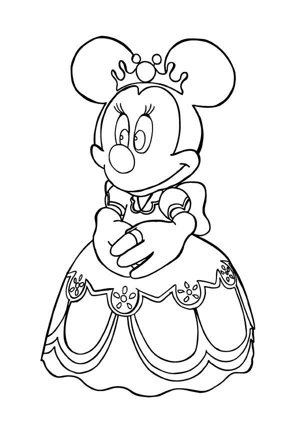 Minnie Mouse Princess Coloring Page PageFull Size Image