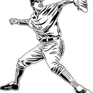Throwing a baseball coloring page throwing a baseball for Baseball player coloring pages