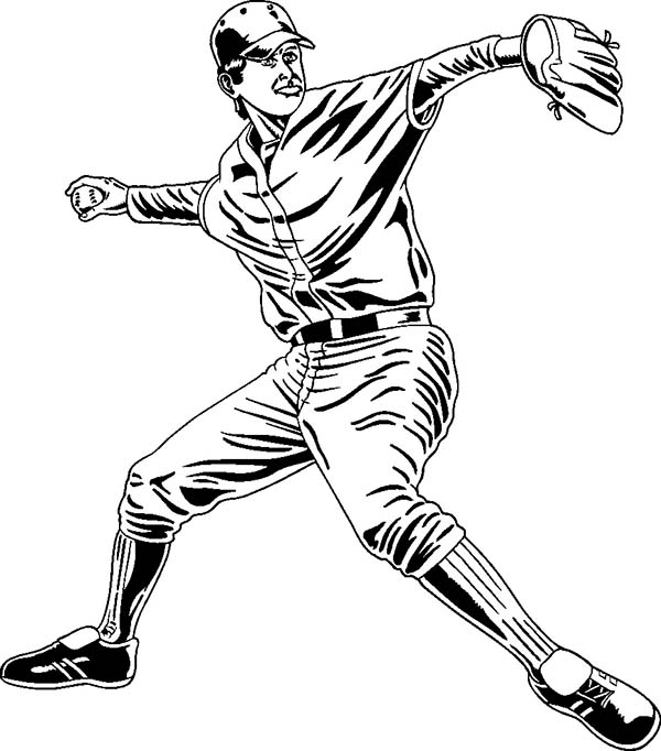 professional baseball coloring pages - photo#2