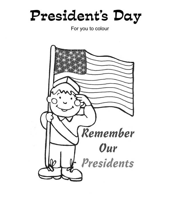 Remembering our presidents on presidents day coloring page for Presidents day coloring pages