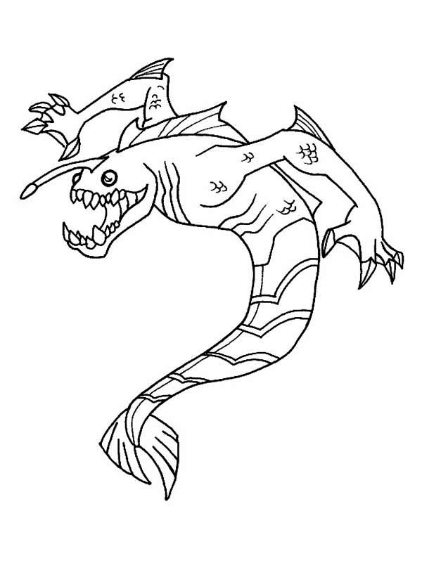 Ben 10 Ripjaws From Omniverse Coloring Page