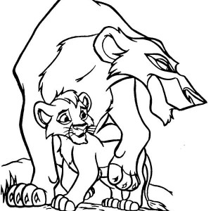 Scar Hate Simba The Lion King Coloring Page Scar Hate Simba The