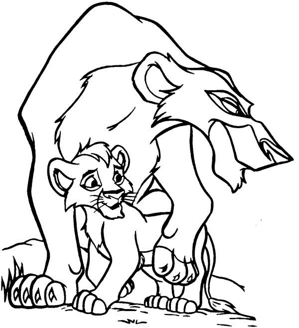 Lion king scar coloring pages for Lion king scar coloring pages