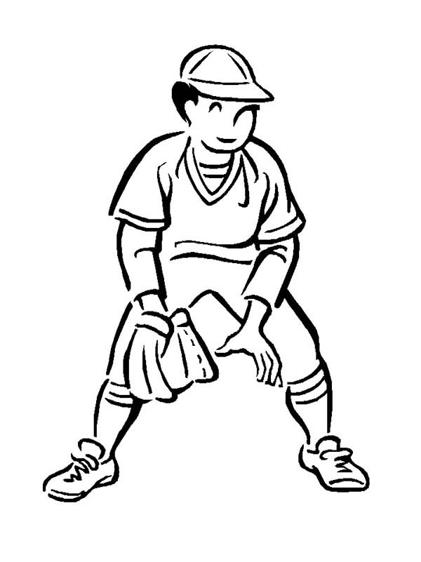 Second base baseball player coloring page download for Baseball player coloring pages