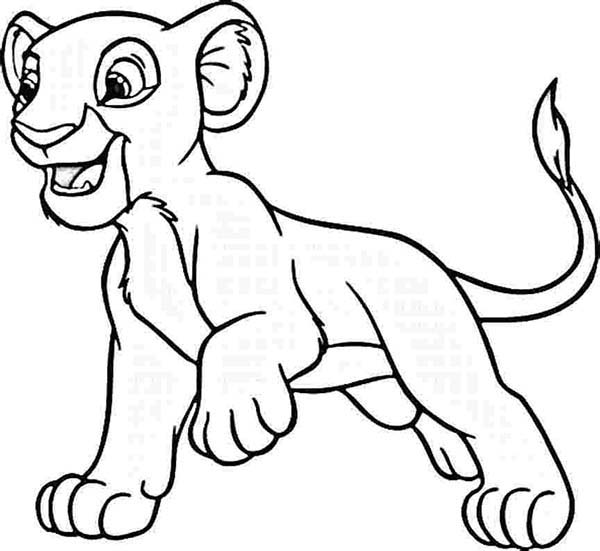 Simba Want to Play Coloring Page Download Print Online Coloring