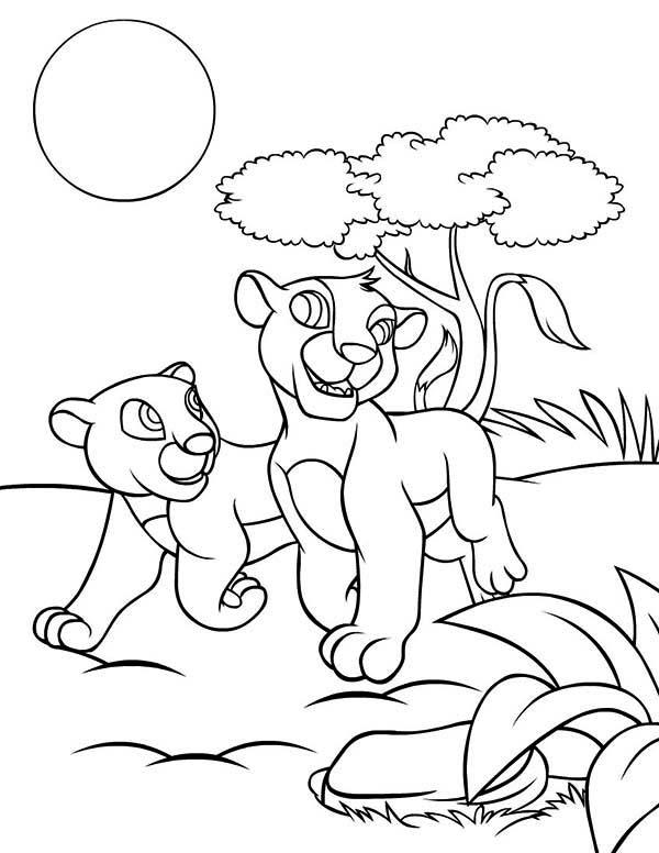 Simba and Nala Coloring Page - Download & Print Online Coloring ...