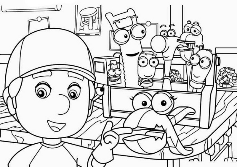 Handy Manny Squeeze And Coloring Page