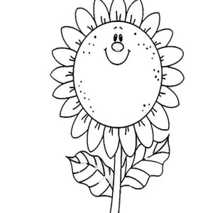 sunflower coloring page for kids