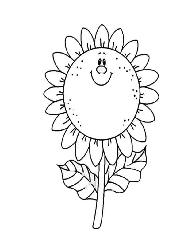 sunflower coloring page for kids - Sunflower Coloring Pages Kids
