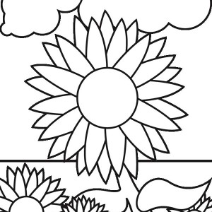 Sunflower Garden Coloring Page