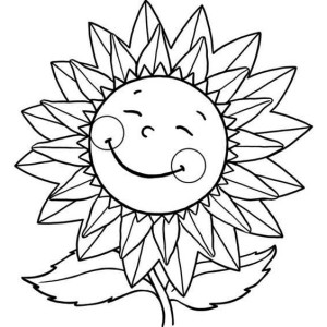 big sunflower coloring pages - photo#45