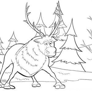 Sven from Disney Movie Frozen Coloring Page: Sven from Disney ...