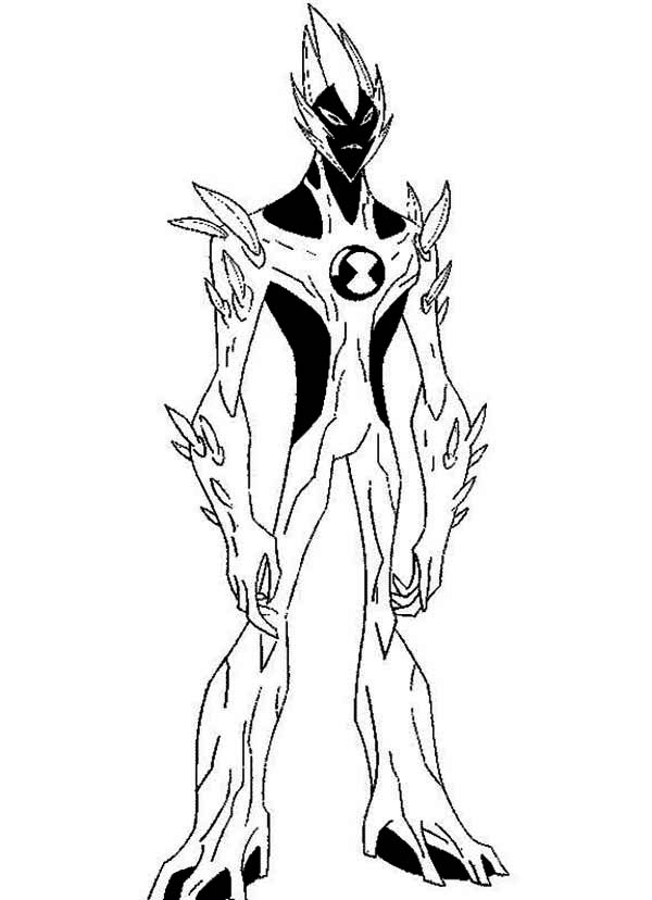 Swampfire from ben 10 alien force coloring page swampfire for Coloring pages of ben 10 aliens