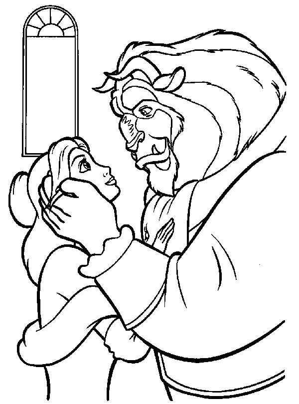 The Beast Love Belle Very Much Coloring Page