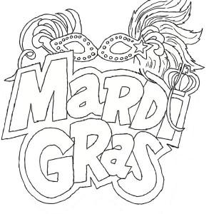 the carnival season of mardi gras coloring page