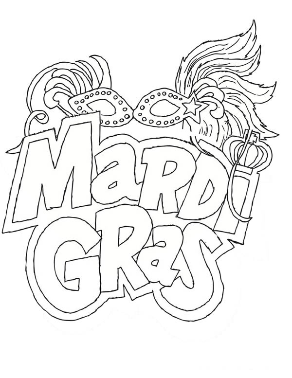 The Carnival Season of Mardi Gras Coloring Page Download Print