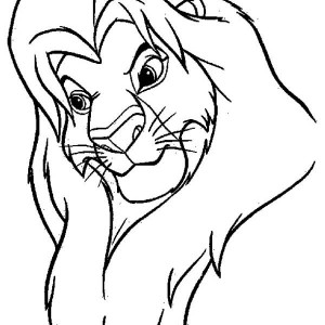 The Great Mufasa The Lion King Coloring Page
