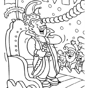 The King Character on Mardi Gras Parade Coloring Page