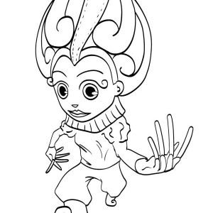 this little kid wearing costume for the mardi gras coloring page - Buzz Lightyear Face Coloring Pages