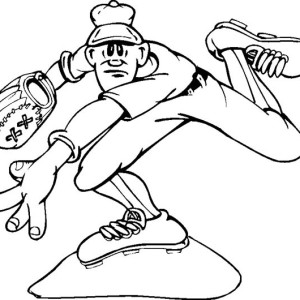 Throwing a Baseball Coloring Page